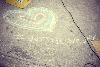 with love (chalk)